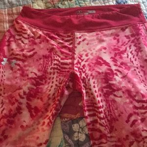 Under Armour-Girls pink leggings
